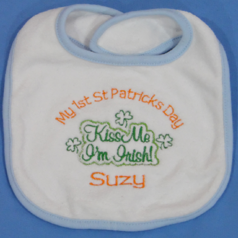 Personalised Babies Bib - St Patricks Day Slogans